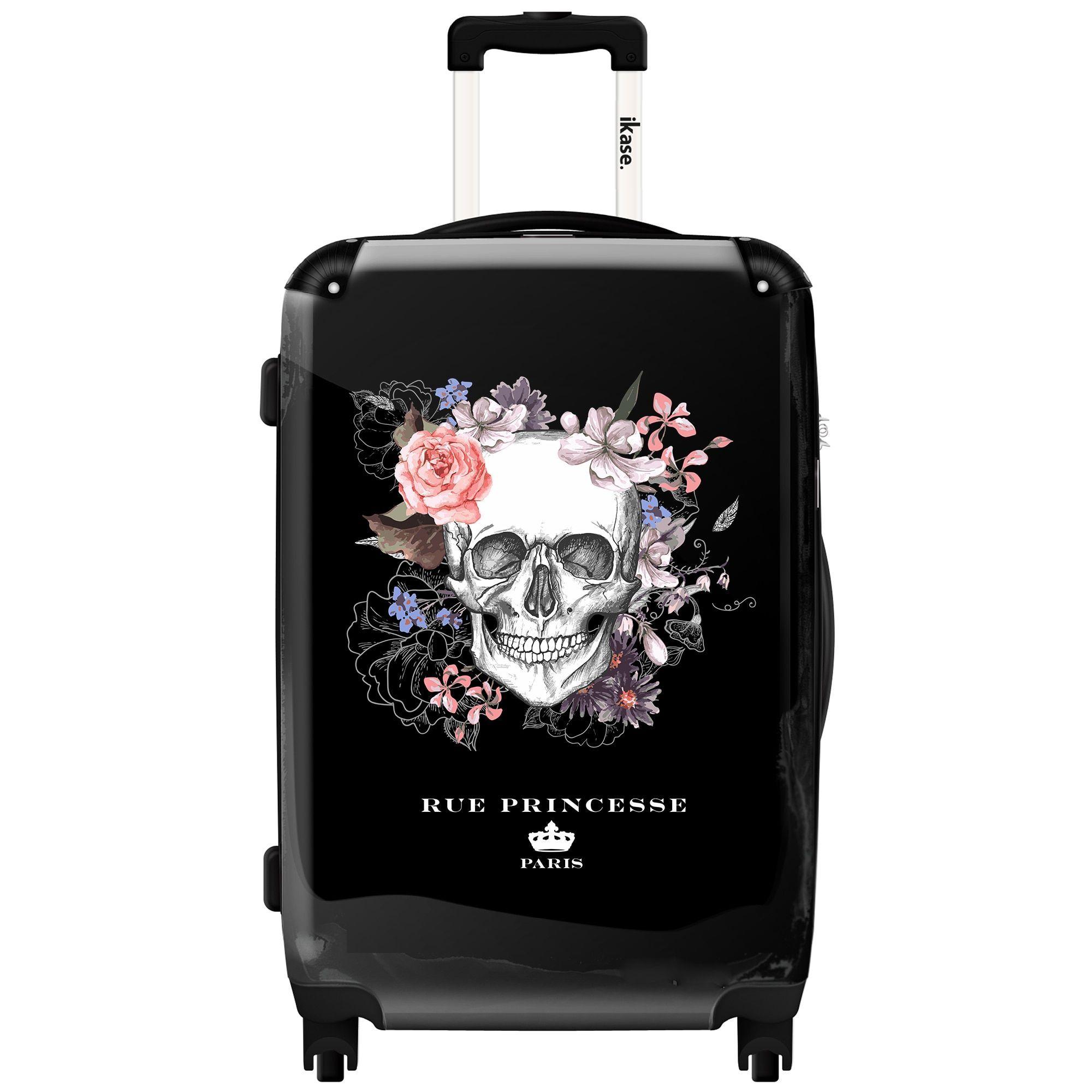Ikase Hardside Spinner Luggage Skull Town
