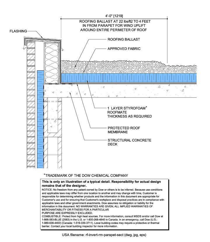 Roof Terrace Parapet Detail Parapet Roof Detail Membrane Roof