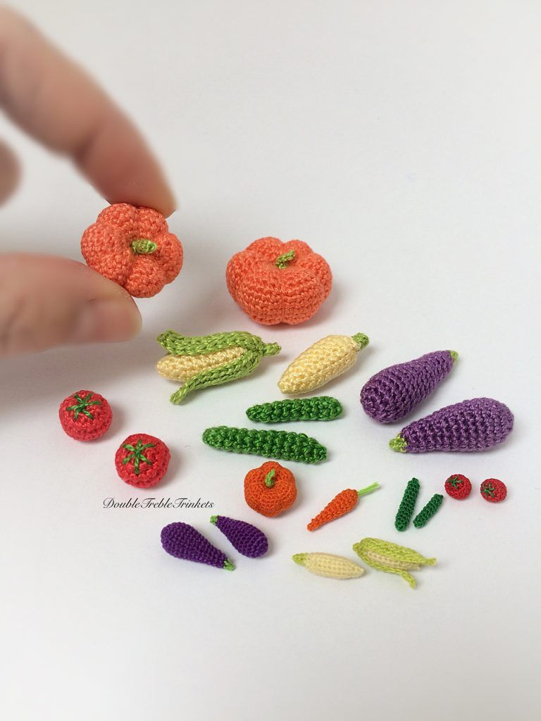 Tiny Crochet Vegetables Part 2 Crafty Bollocks Pinterest