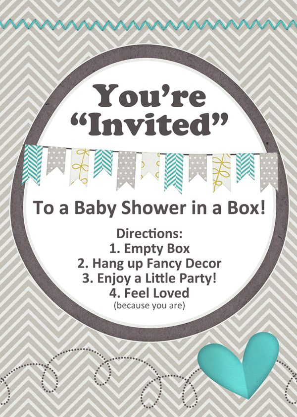 Baby Shower In A Box Diy Entertaining Pinterest Box Babies