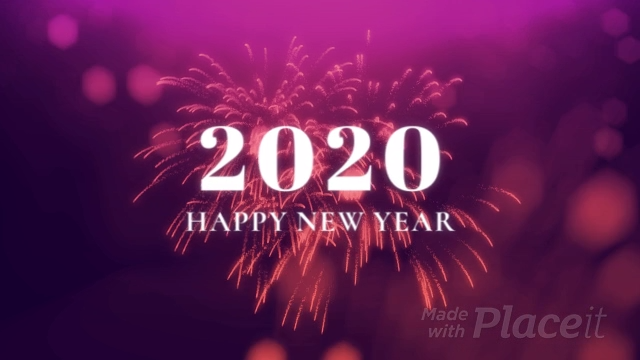New Year Themed Intro Maker Featuring Fireworks Animations 1963 Video Video In 2020 New Year Card Design New Year Logo Fireworks Animation