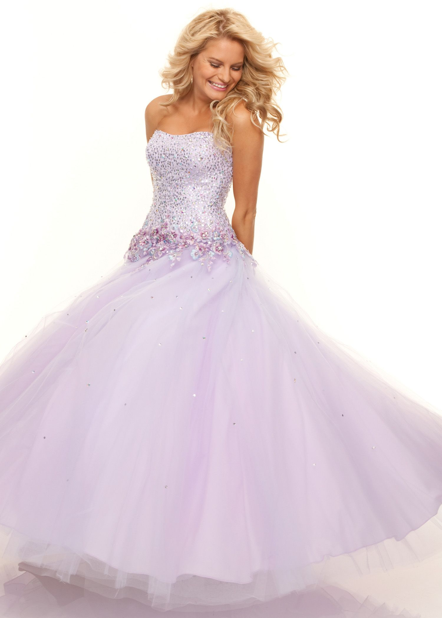 Shop Now Paparazzi by Mori Lee 93093 strapless purple prom