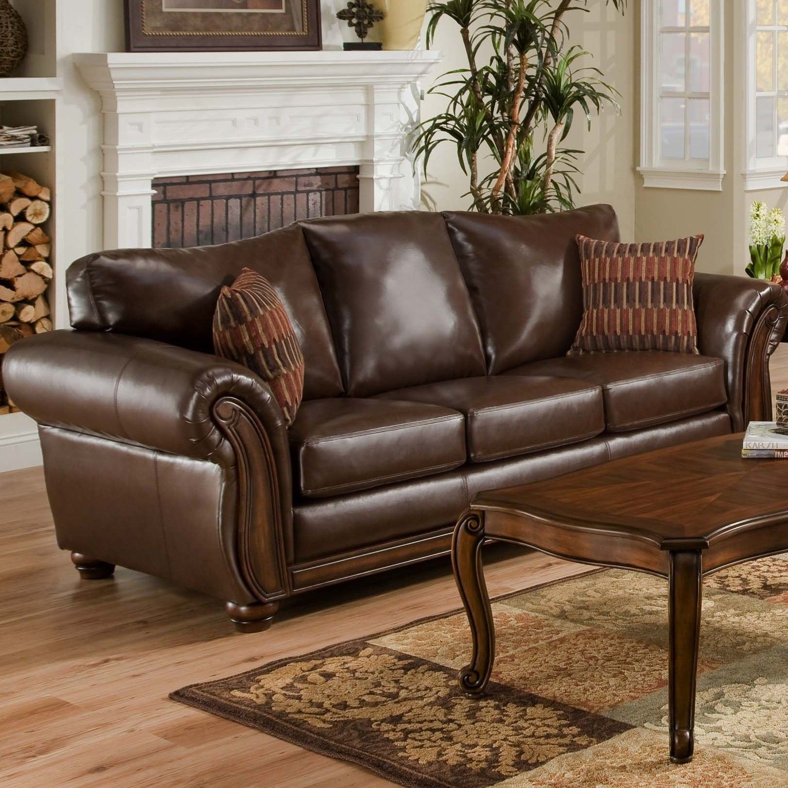Simmons Upholstery Santa Monica Queen Sleeper Sofa Leather Sleeper Sofa Leather Sofa Sale Wayfair Living Room Furniture