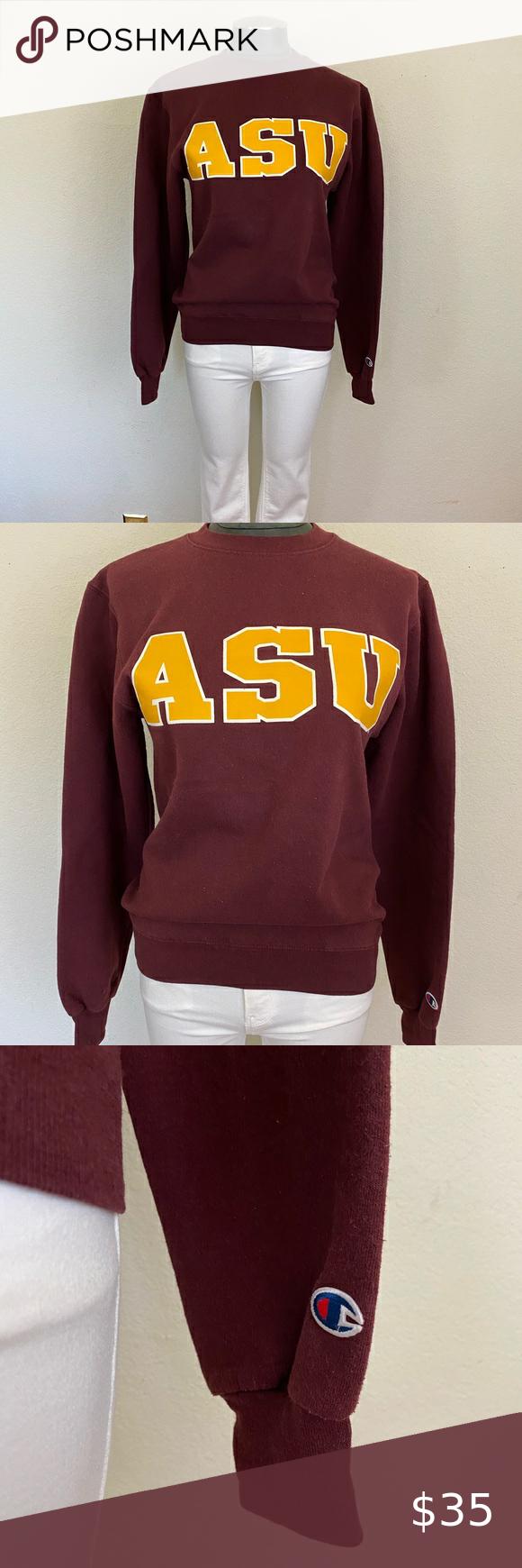 Vintage Asu Arizona State University Sweatshirt University Sweatshirts Branded Sweatshirts Sweatshirts [ 1740 x 580 Pixel ]