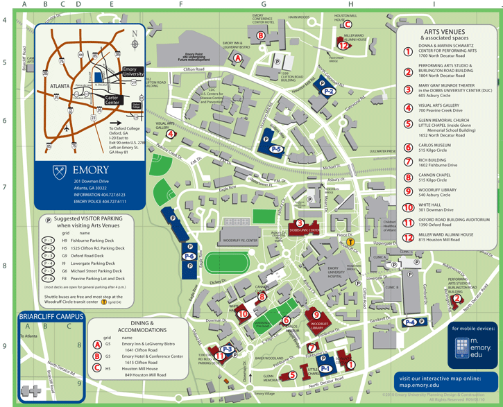 scad atlanta campus map Emory Campus Map Campus Map Ireland Travel Map