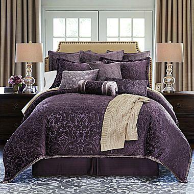 Royal Velvet Fenice 4 Pc Jacquard Comforter Set Comforter Sets Comfortable Bedroom Purple Comforter