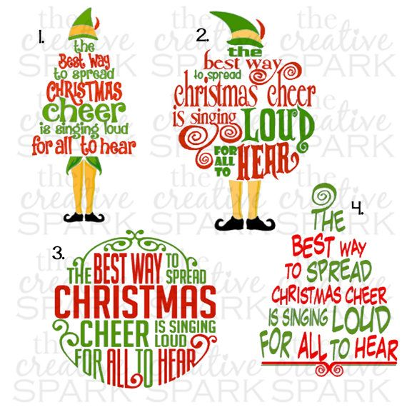 Elf Quote Buddy The Elf Christmas Cheer By TheCreativeSpark2