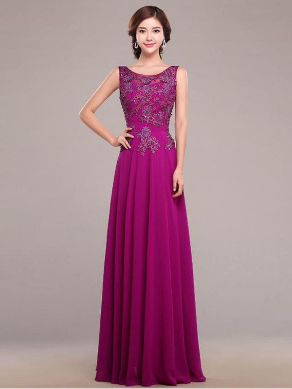 Lace Long Elegant V-Neck Evening Dress | Septiembre, Fiestas y ...