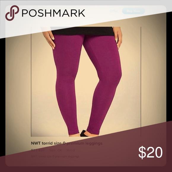 Torrid leggings Dark Purple New without tags,never been worn,bought and haven't worn yet.Full length torrid Pants Leggings