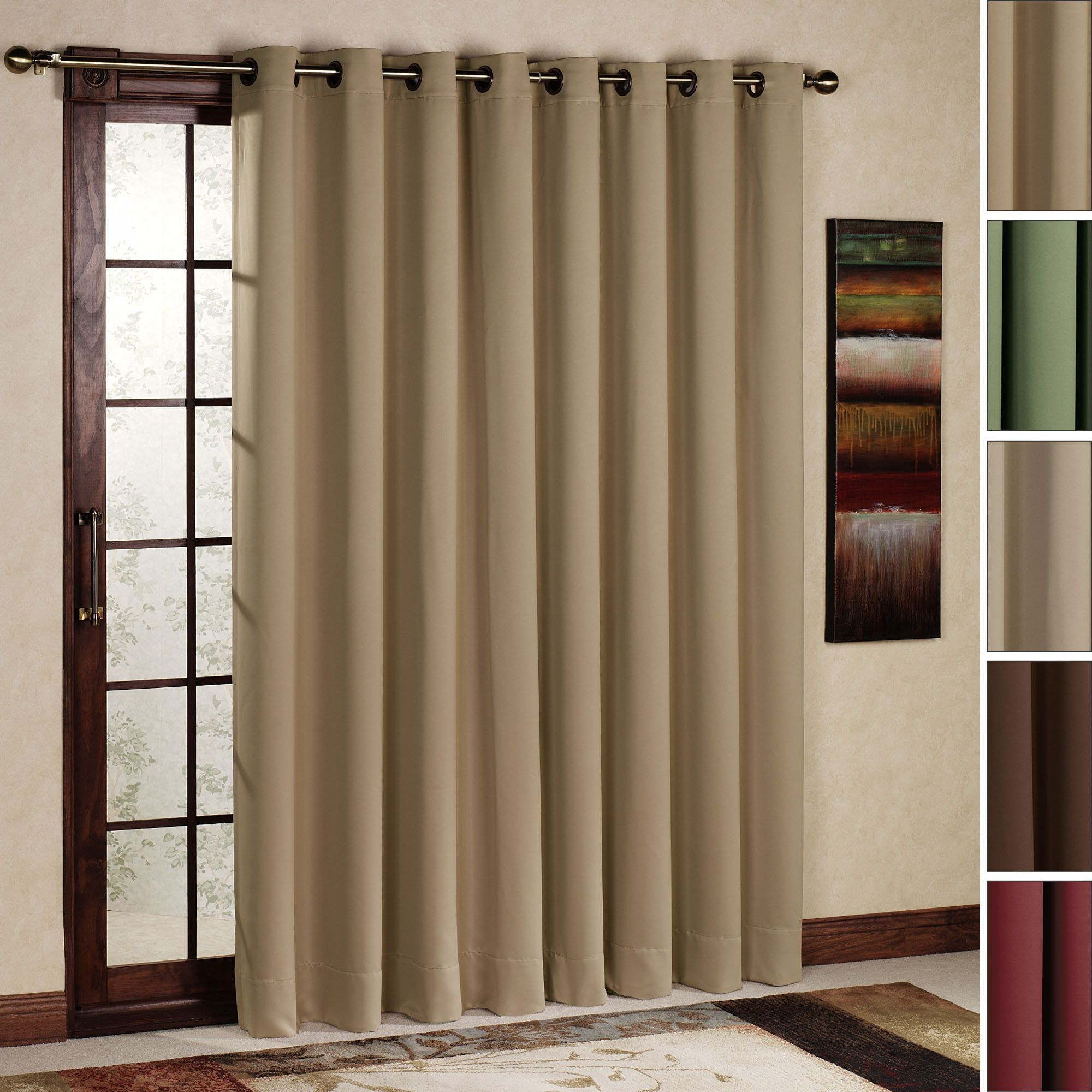 Door curtains & Ultimate Blackout Grommet Patio Panel | Modern patio doors ... Pezcame.Com
