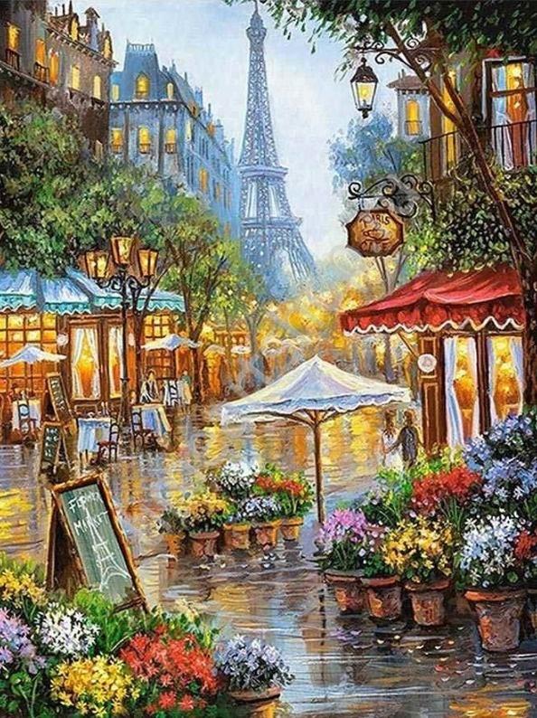 Цветы на Парижской улочке. Набор для творчества: картина ...