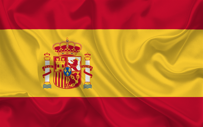 Download Wallpapers Spanish Flag Spain Europe Silk Flag Of Spain
