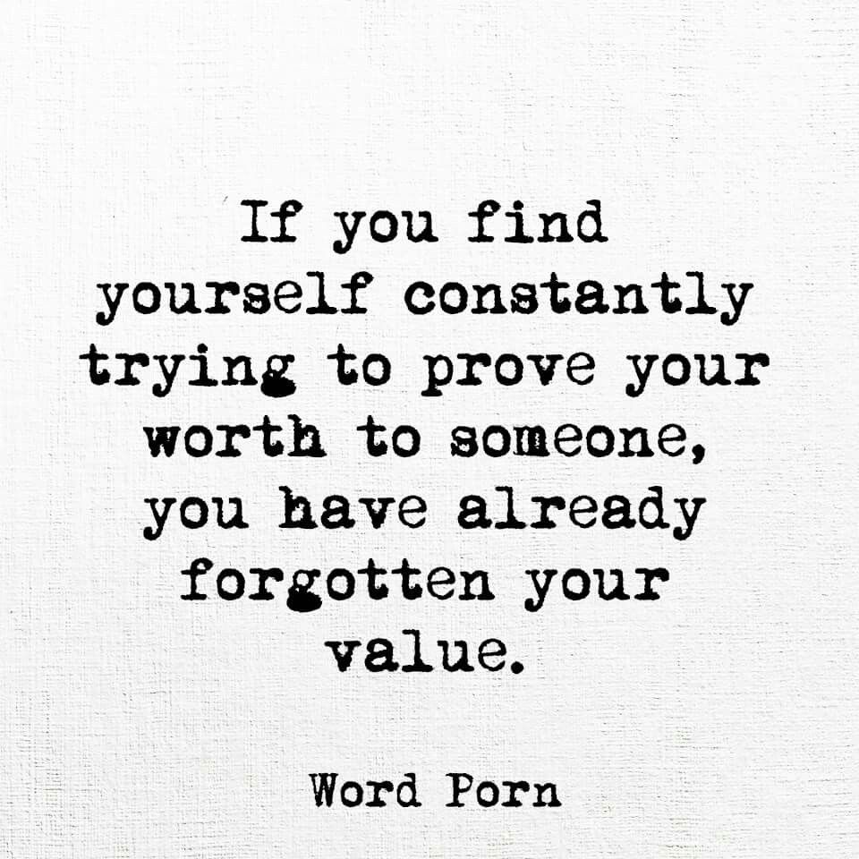 You never lose your worth, you never lose your value