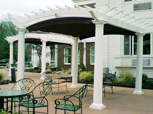 pergola with arch and retractable awning - from Walpole Woodworkers. 12x14 structure+canopyu003d & pergola with arch and retractable awning - from Walpole ...