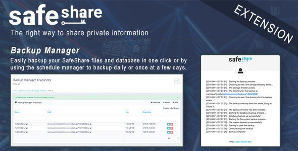 Backup Manager for SafeShare Nulled | Nulled Wordpress Themes