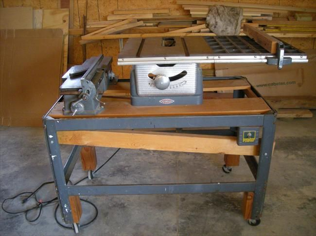 Photo Index Sears Craftsman Craftsman Table Saw 8 103 22161 Mounted With Craftsman Jointer 103 23340 Craftsman Table Saw Table Saw Vintage Craftsman