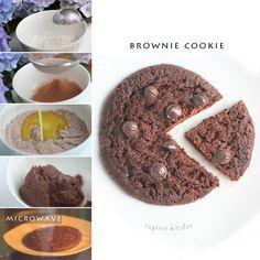 2 Minute Brownie Cookie Microwave Recipe Receta Reposteria Recetas Recetas De Postres Recetas