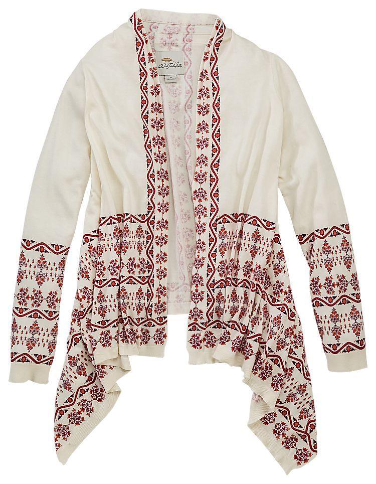 Bob Timberlake® Print Asymmetrical Cardigan for Ladies - Long ...