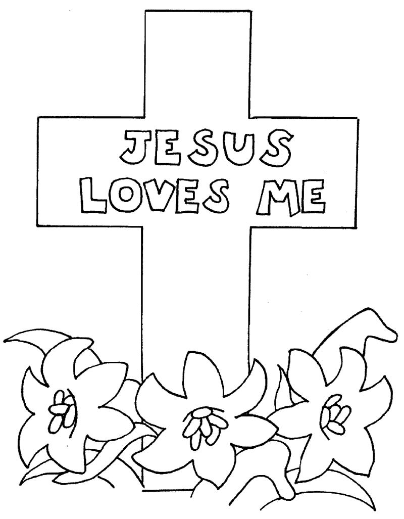 Jesus Loves Me Cross Coloring Page Jesus Coloring Pages Cross Coloring Page Bible Coloring Pages