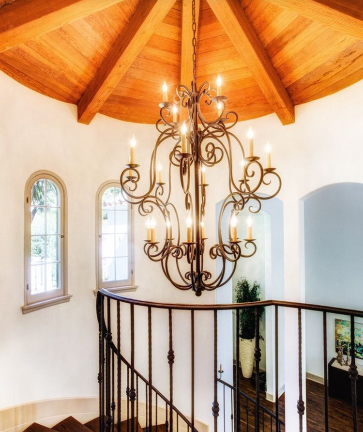 Custom Wrought Iron Chandelier For A
