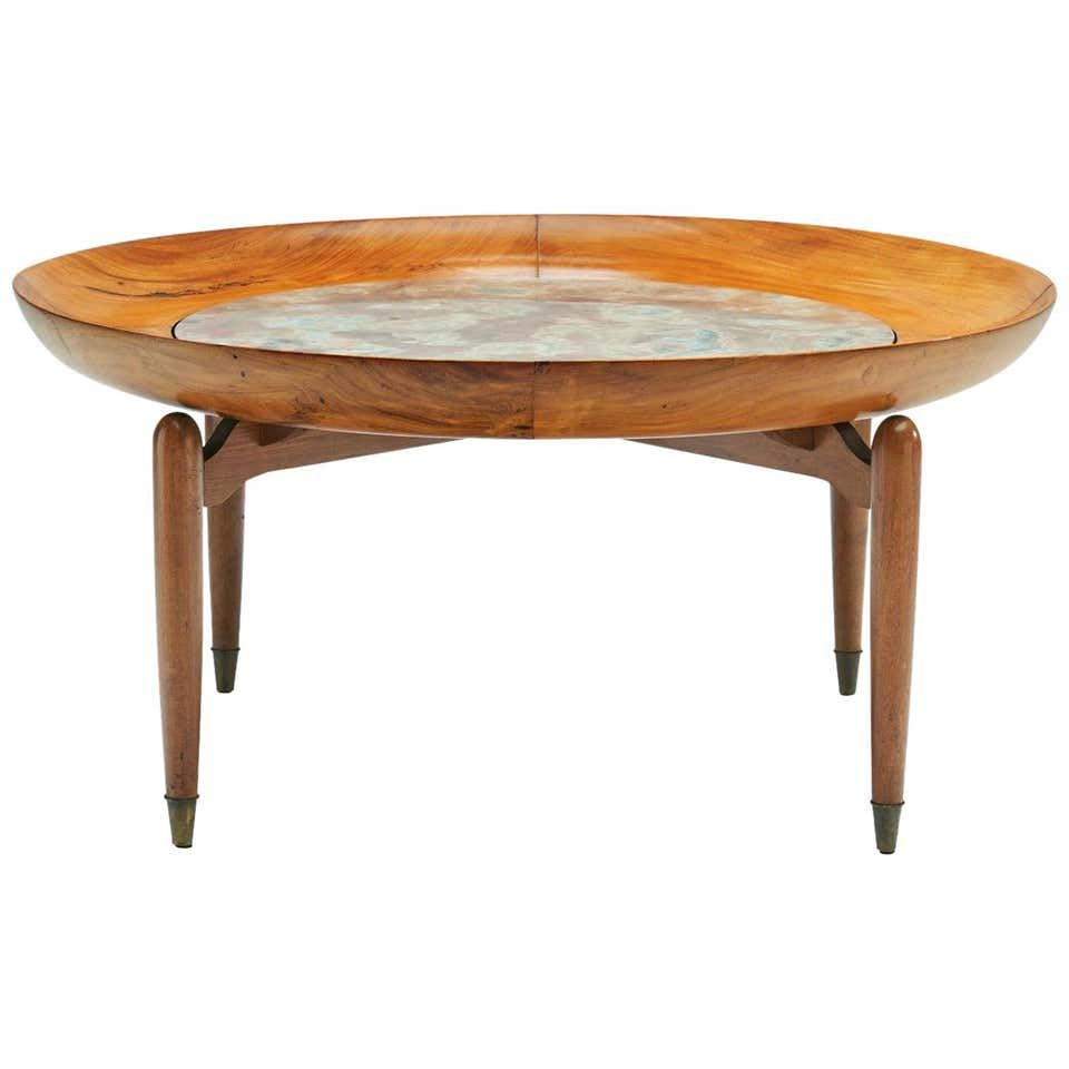 Giuseppe Scapinelli Round Coffee Table In Caviuna Wood And Marble Brazil 1960s Coffee Table Round Coffee Table Circular Coffee Table [ 960 x 960 Pixel ]
