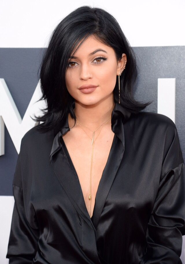 Kylie Jenner Hairstyle Shoulder Length Jenner Hair Celebrity Short Hair Kylie Jenner Hair Color