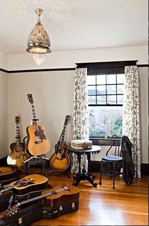 John S Spare Room Into An Office Studio Music Room Like The Paint Idea Music Studio Room Music Room Music Decor