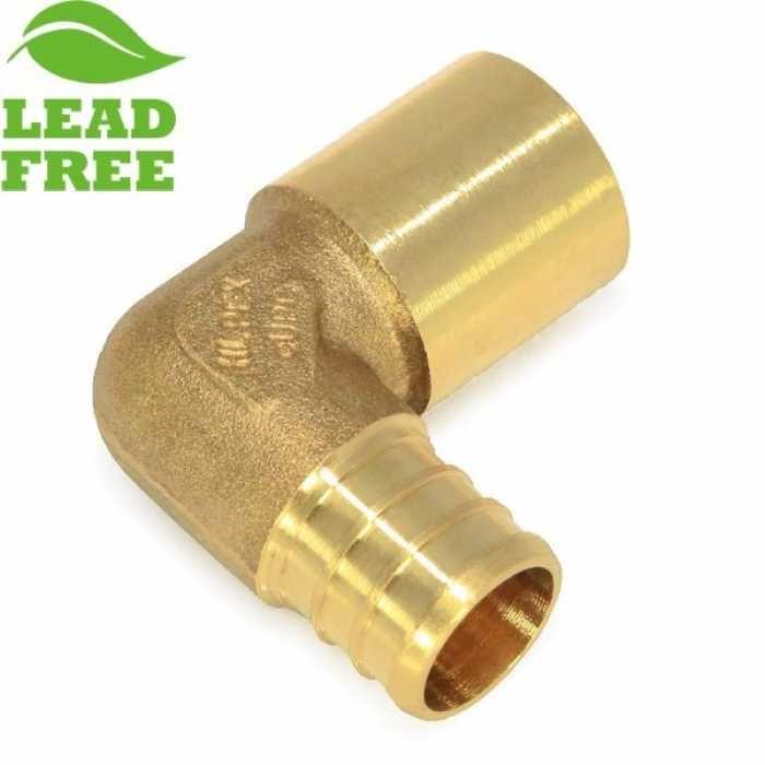 Everhot Plf7603 3 4 Pex X 3 4 Lead Free Copper Fitting Elbow Copper Fittings Fittings Brass Fittings