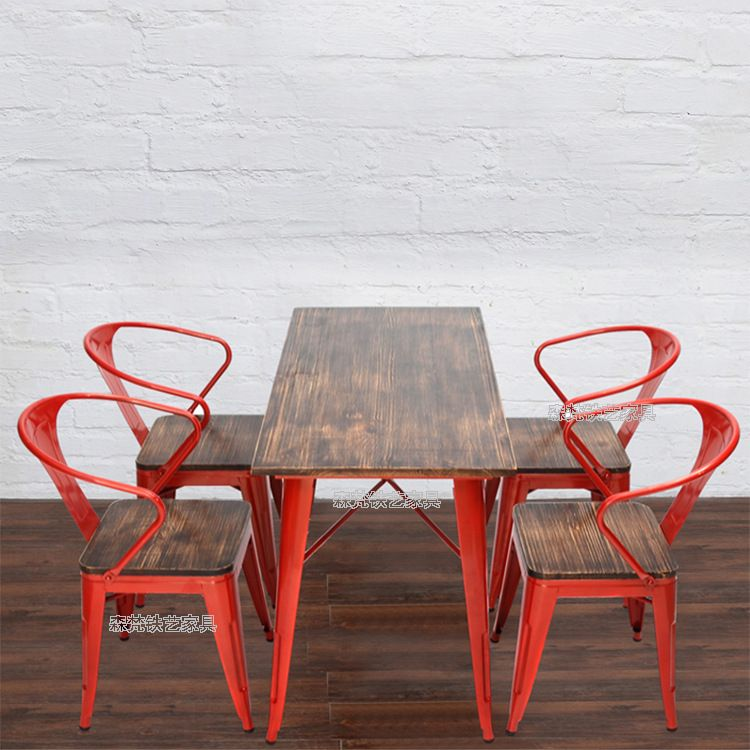 Retro Cafe Table And Chairs Pedicure Parts Pin By Kim D On Bistro Restaurant Tables Sen Vatican American Iron Wood Color Casual Creative Outdoor