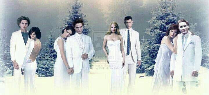 The Twilight Saga couples: Jasper and Alice, Bella and Edward ...
