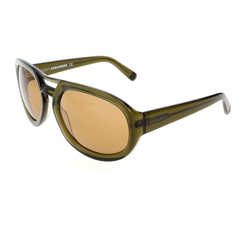 Dsquared2 // Men's DQ0258 Sunglasses // Shiny Dark Green + Brown