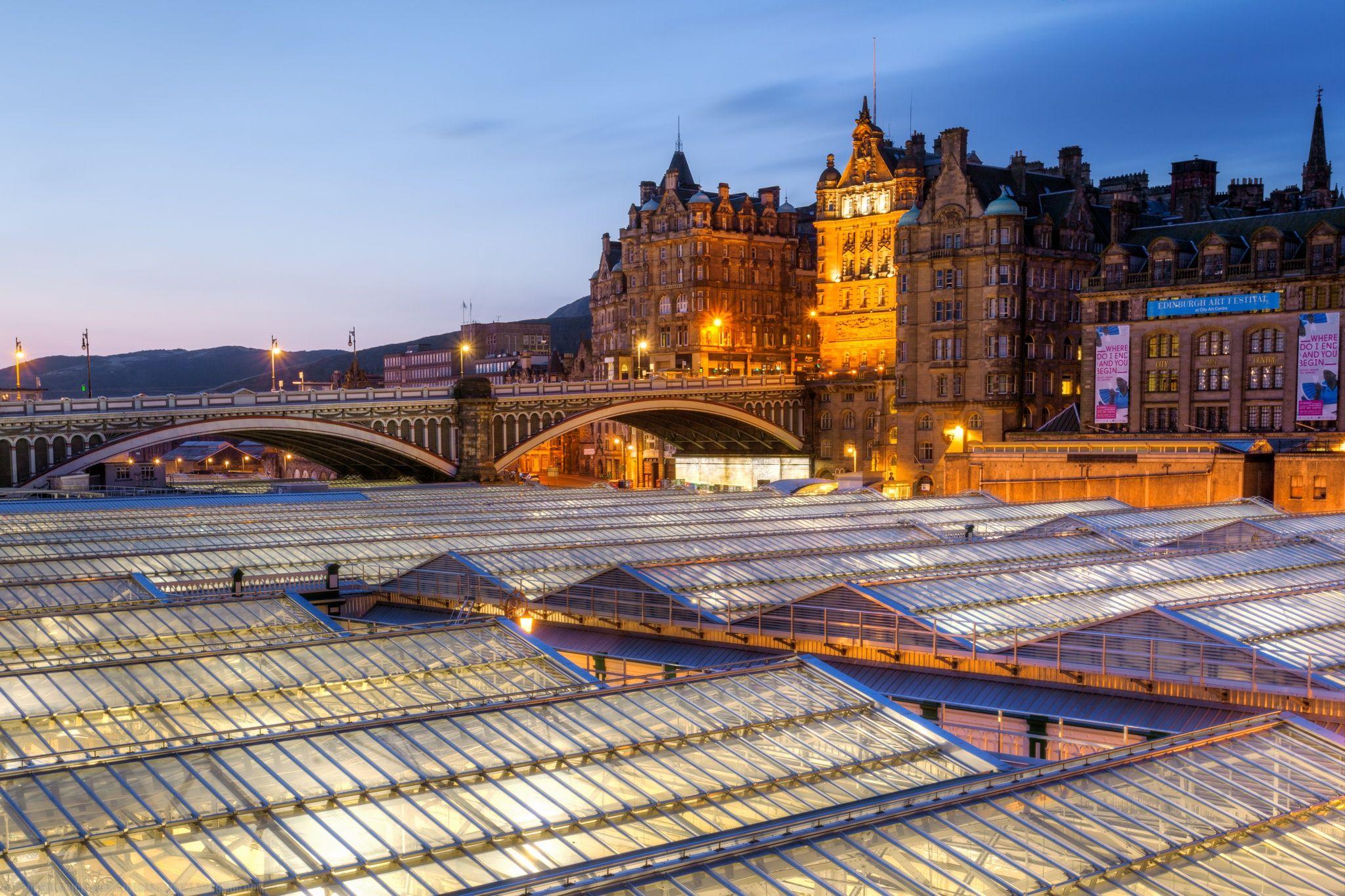 Edinburgh Waverley Station, Edinburgh, Scotland by Joe Daniel Price on 500px
