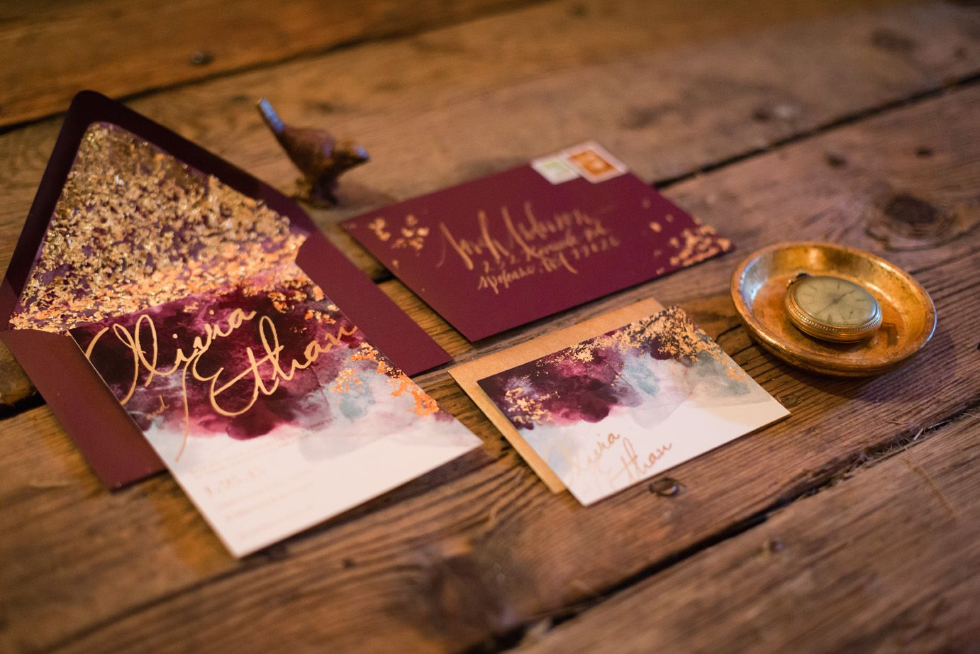 Gold foil stmaping #wedding #invitations   Wedding Stationery ...