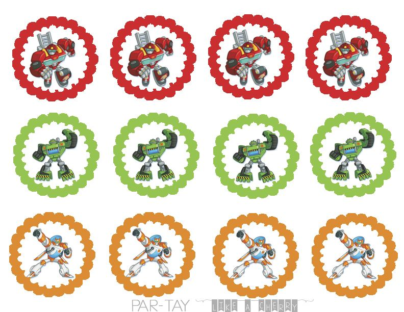 Rescue Bots Cupcake Toppers Cupcake Toppers Free Rescue