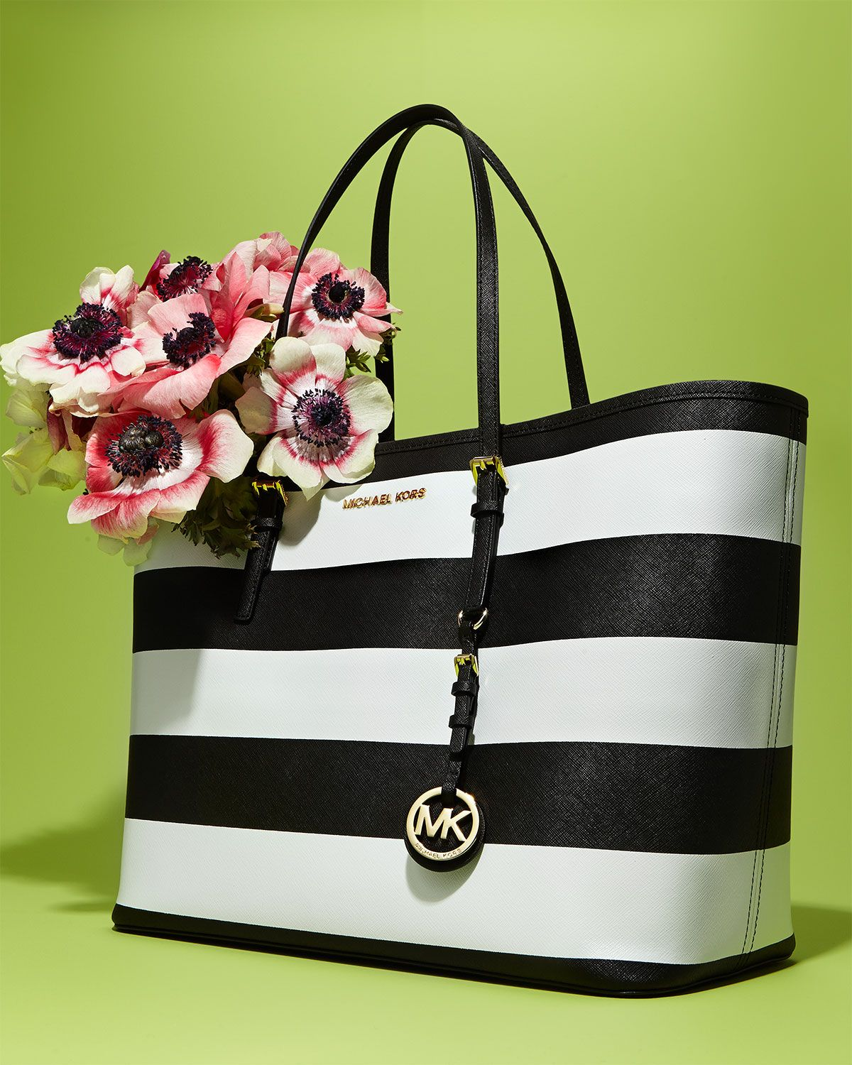 KorsZapatos Striped Y Michael Black Accesorios White By Tote And SzGUqMVp