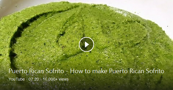 Homemade Puerto Rican Sofrito recipe! It's a very easy recipe to make and holds up well in the fridge as well as the freezer. Use ice cube trays to freeze them and then pop them out for use! :D TOOLS: Blender or Food Processor Ice Cube Trays Freezer Bags INGREDIENTS: 2.5 Cups of Garlic Cloves (whole) 3 Bunches of Culantro (Recao) 2 Bunches of ... #sofritorecipe Homemade Puerto Rican Sofrito recipe! It's a very easy recipe to make and holds up well in the fridge as well as the freezer. Use ice cu #sofritorecipe