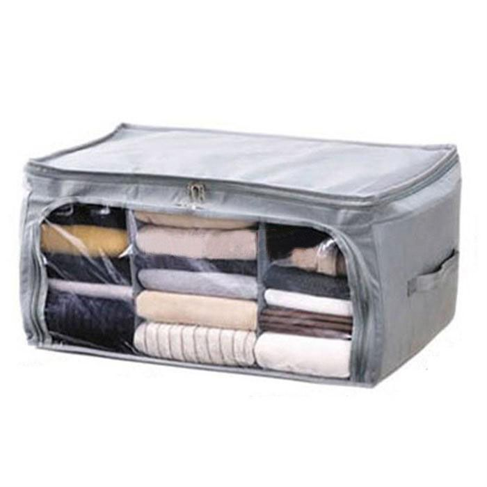 New Foldable Clothing Organizer Clothing Storage Box For Blanket Pillow  Underbed Bedding