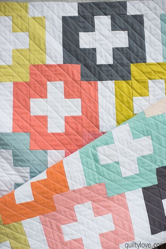 Plus and Minus Quilt Pattern - Quilty Love