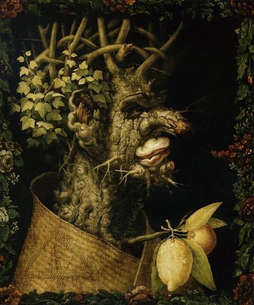 Les Quatre Saisons D Arcimboldo Portraits En Fleurs Et Fruits Les Quatre Saisons Les Arts Peintre