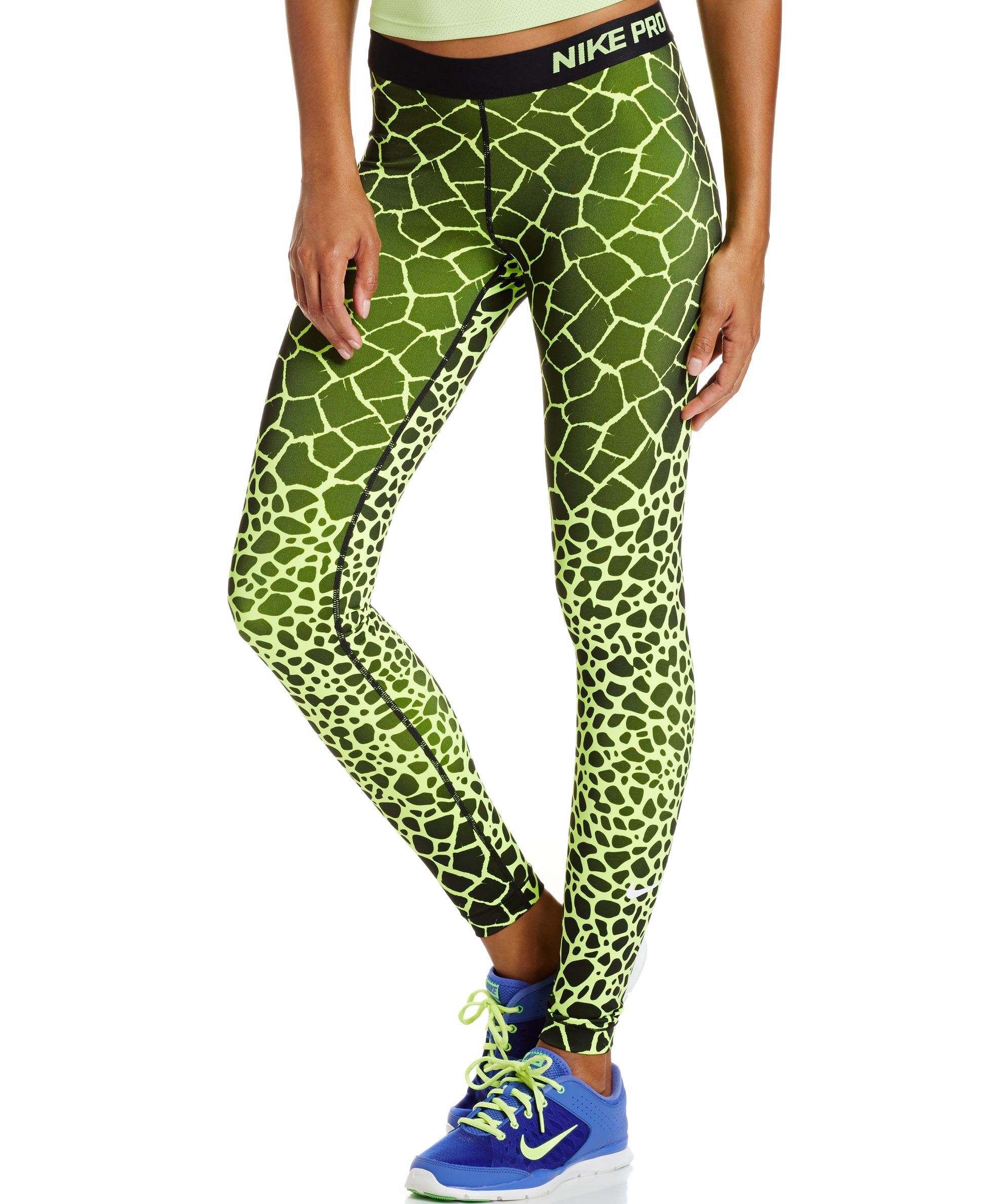 Nike Pro Engineered Dri FIT Giraffe Print Leggings Pants