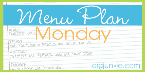 weekly meal plan and printable grocery list!