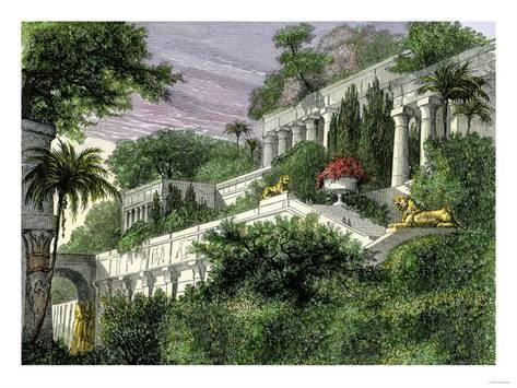 Giclee Print Babylon S Hanging Gardens One Of The Seven Wonders Of The Ancient World 24x18in Wonders Of The World Famous Gardens Seven Wonders