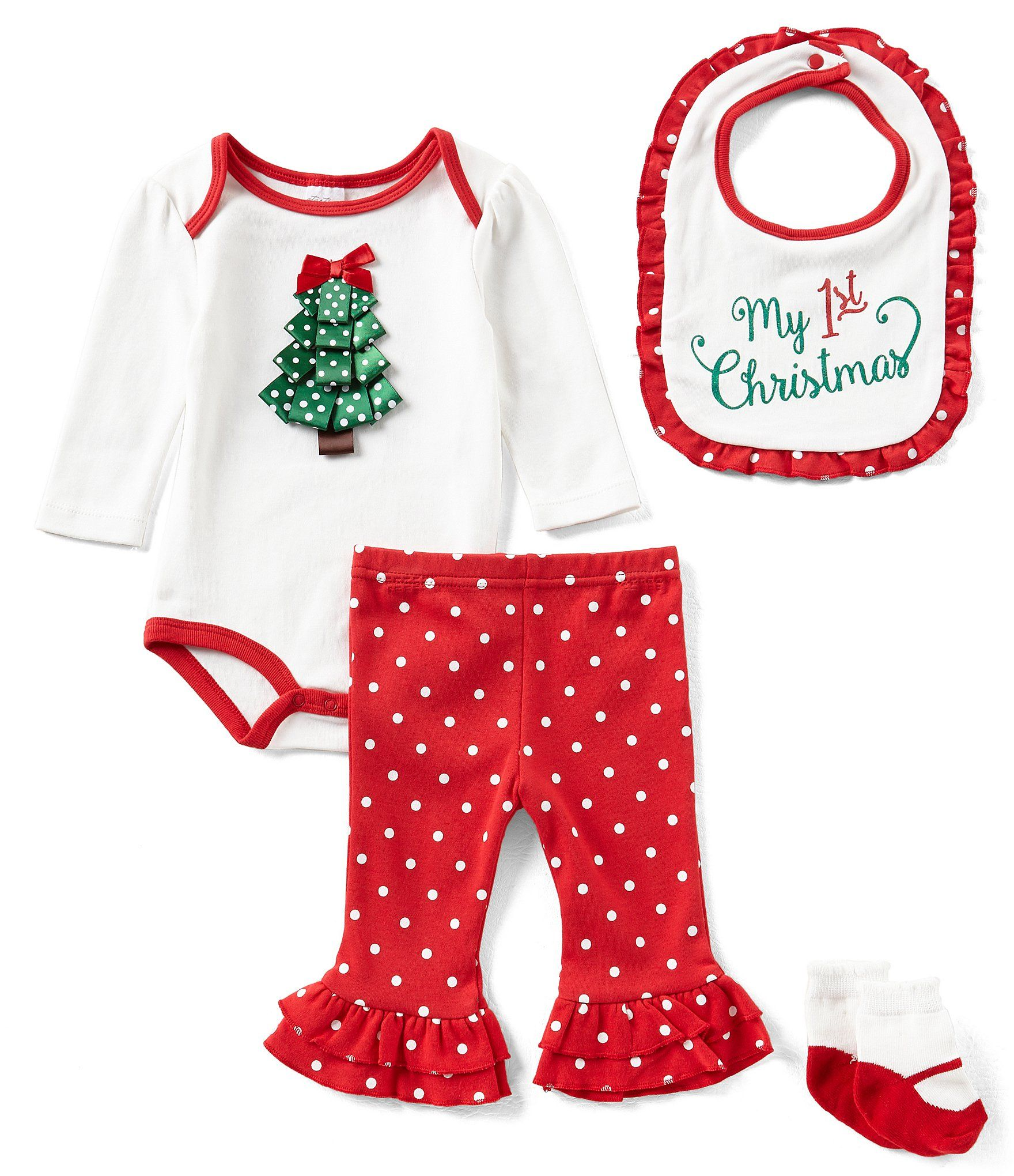 Starting Out Baby Girls Newborn9 Months Christmas Tree 4Piece