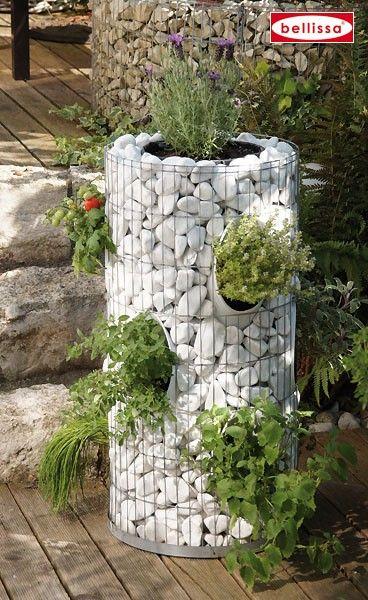 Herb Tower Landscaping Pinterest Jardinería, Jardines y Gaviones