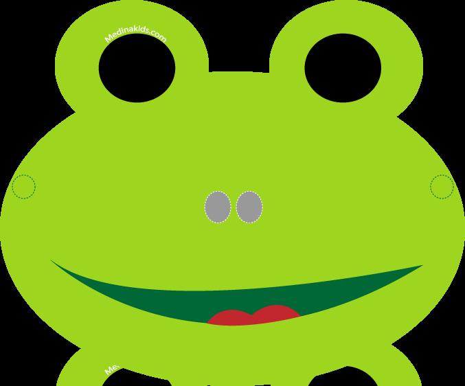 Medinakids Frog Mask Craft For Kidst  Paper Face Mask Template
