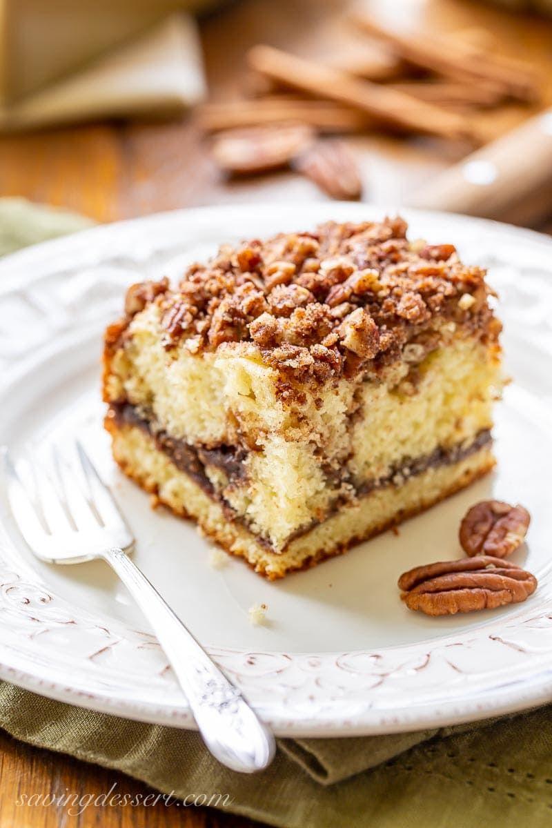 Sour Cream Coffee Cake Recipe in 2020 Sour cream