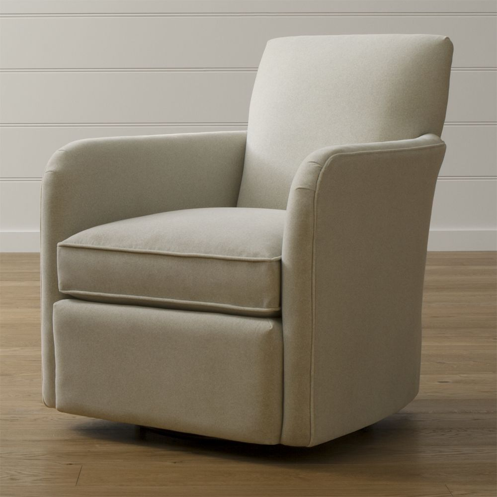 Exceptionnel Zoe Swivel Chair   The Slipper Chair Meets The Swivel Chair In A  Streamlined Modern Profile