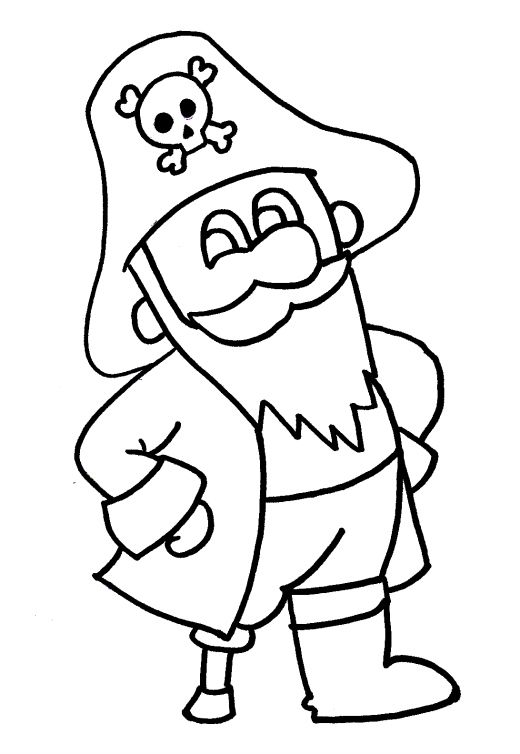 Pirate Coloring Pages Easy Drawings Coloring Pages