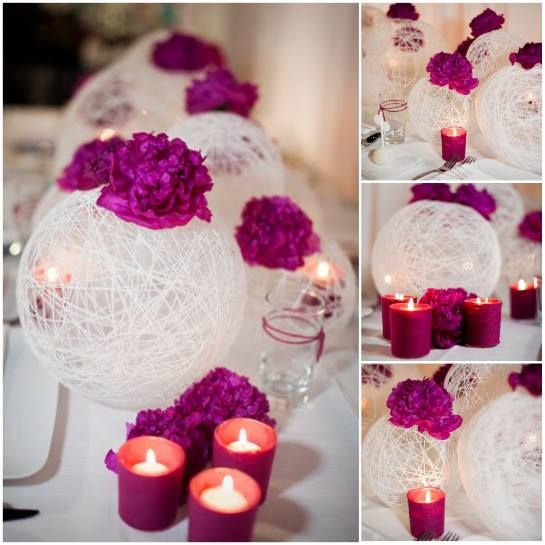 Unique wedding ideas on a budget arreglos de mariana y centros de also really nice and easy to make yourself with royal blue paper flowers solutioingenieria Image collections
