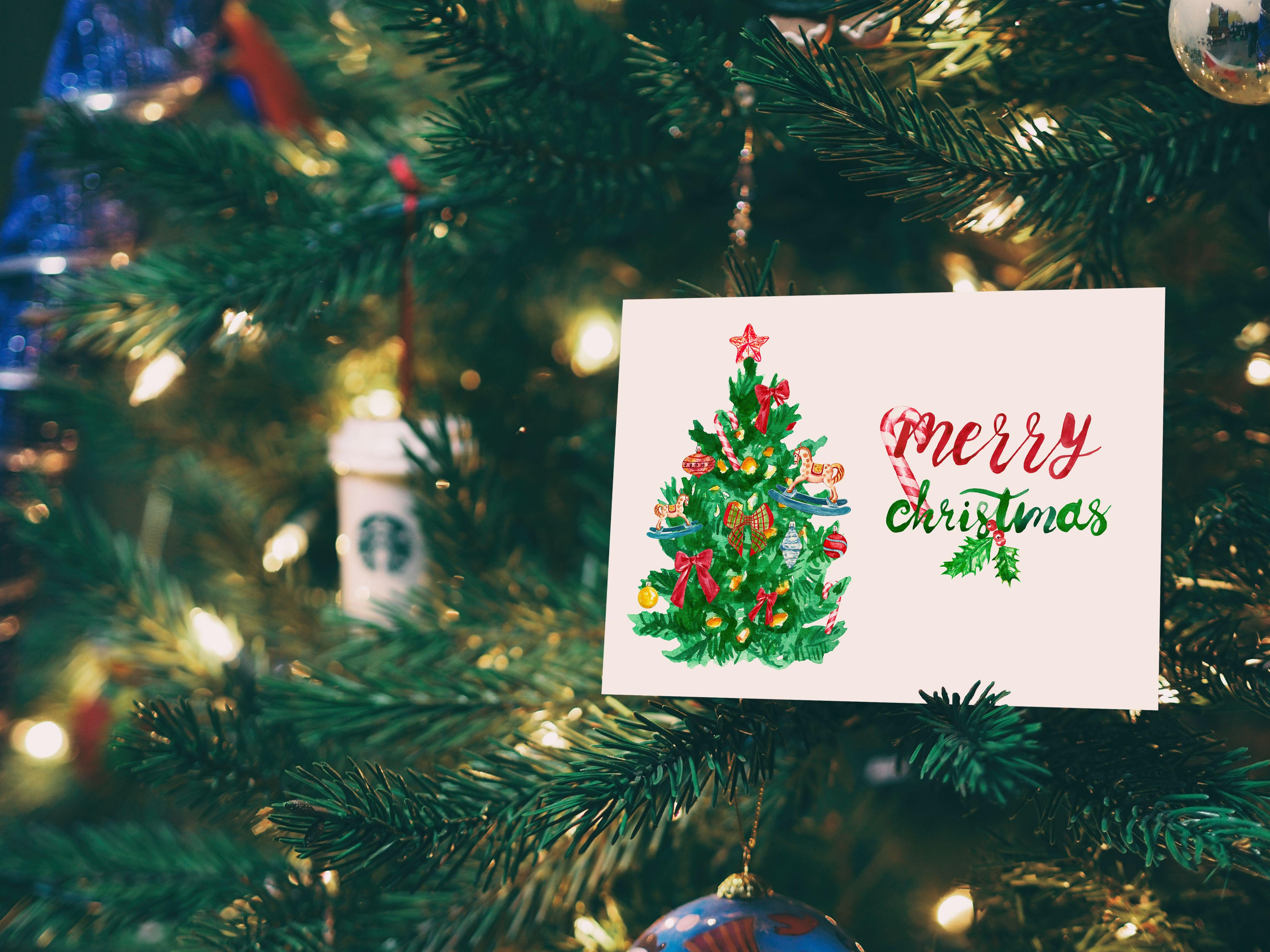 Xmas Card Template Christmas Digital Printable Card Christmas